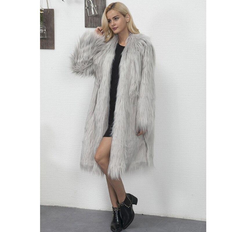 Trench Imitation rose coat Nouvelle gris Vêtements Et 6xl Manteau Longue Haute S Lady vert Renard De Mode Femmes Blanc Faux Hiver noir Automne Fourrure gUwnqT6
