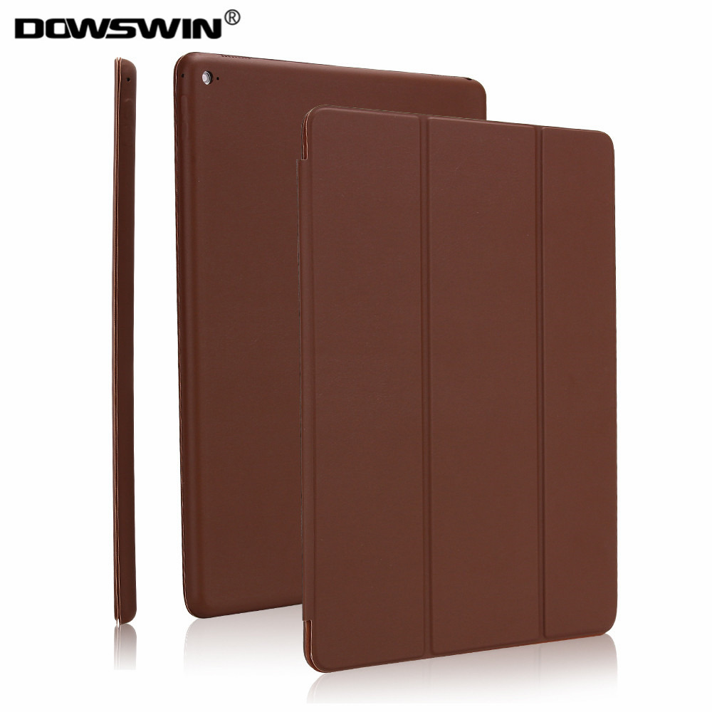 Case for iPad pro 12.9,Dowswin PU Leather Tri-Fold Smart Cover Can Wake Up Sleep Magnetic Flip stand for iPad pro 12.9 case for ipad pro case 12 9 9 7 auto sleep wake up magnetic smart stand flip leather hand hold tablet cover