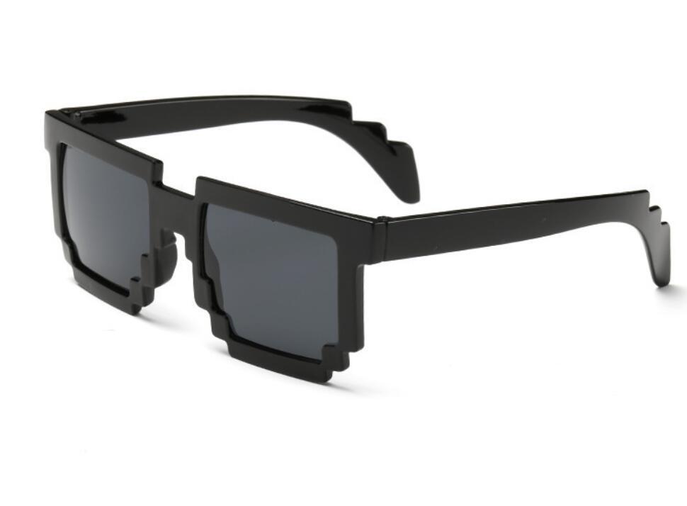Модные солнцезащитные очки 5 цветов, детские игрушки для костюмированной игры, квадратные солнцезащитные очки для мальчиков и девочек, подарок на день рождения - Цвет: Black