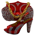 Italian Shoe with Matching Bags African Shoe and Bag Set for Party In Women Italian Shoe with Bag WUW1-52