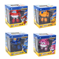 4pcs/set 15cm Super Wings Deformation Airplane Robot Action Figures Super Wings Transformation Jet toys for children gift