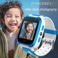 2019 BANGWEI Новые Детские Смарт часы детское позиционирование экстренный дистанционный мониторинг освещения Смарт часы LBS отслеживание позици