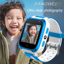 2019 BANGWEI New Childrens Phone Watches Child Positioning SOS Remote Monitoring Lighting Smart Watch LBS Tracking