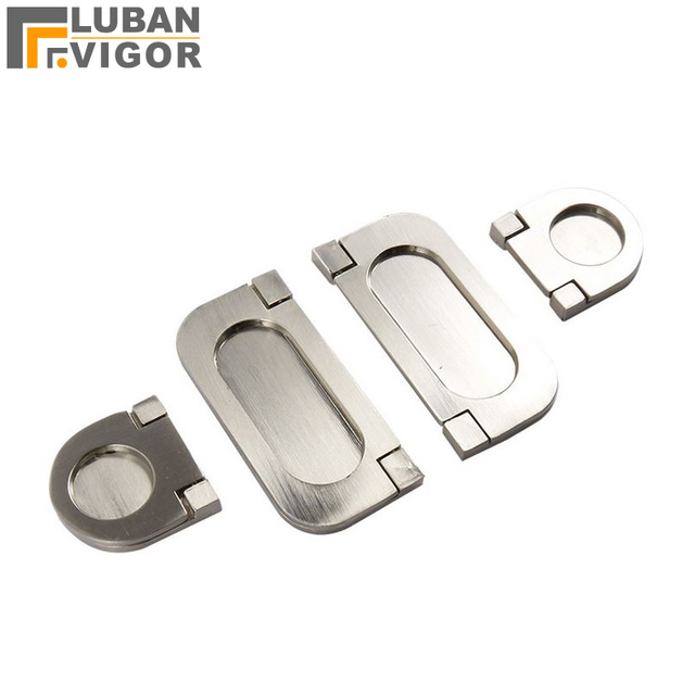 Surface Mounted Folding Handle Brushed Silver Invisible Drawer Handles Beautiful Furniture Hardware