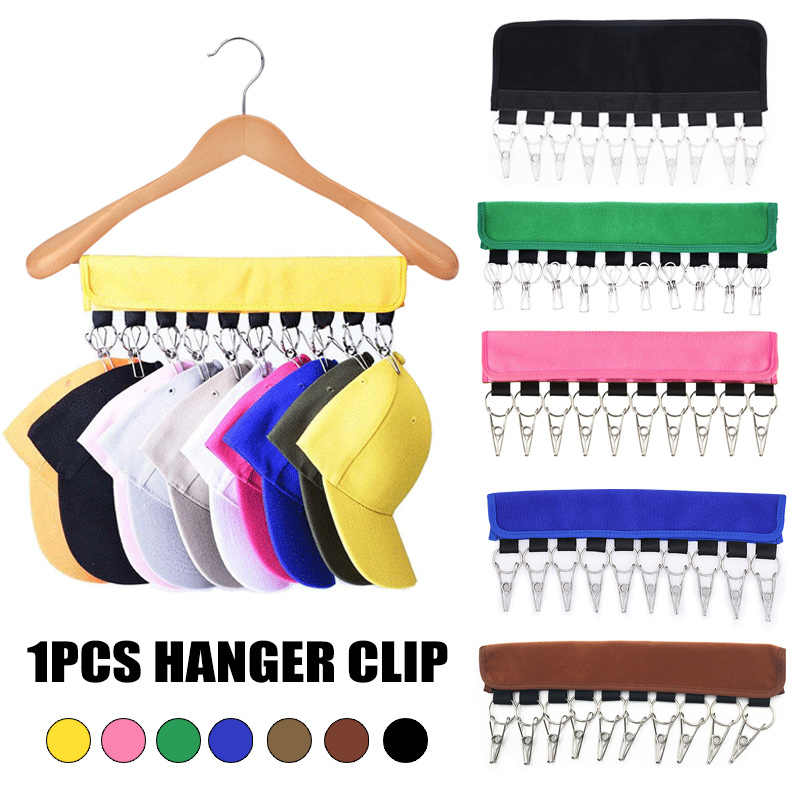 Cap Organizer Hanger 10 Baseball Caps Holder Hats Organizer for Closet Hanger clip  RT99