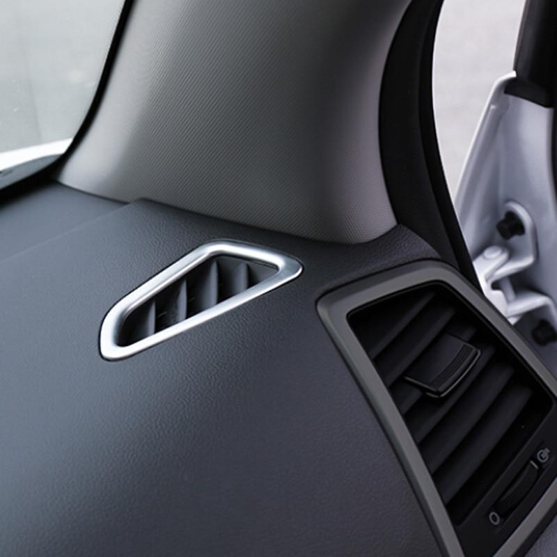 Chrom/é mat ABS Int/érieur Tableau de bord Air AC Vent Outlet Cover Trim 4 pcs pour RAV4 2016-2018 Accessoires Auto Styling