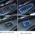 Levantador de vidro da janela do carro decoração de Aço Inoxidável adesivos Apto Para 2013-2015 BMW Série 3 Série 3 GT 320li/F20 116i 118i