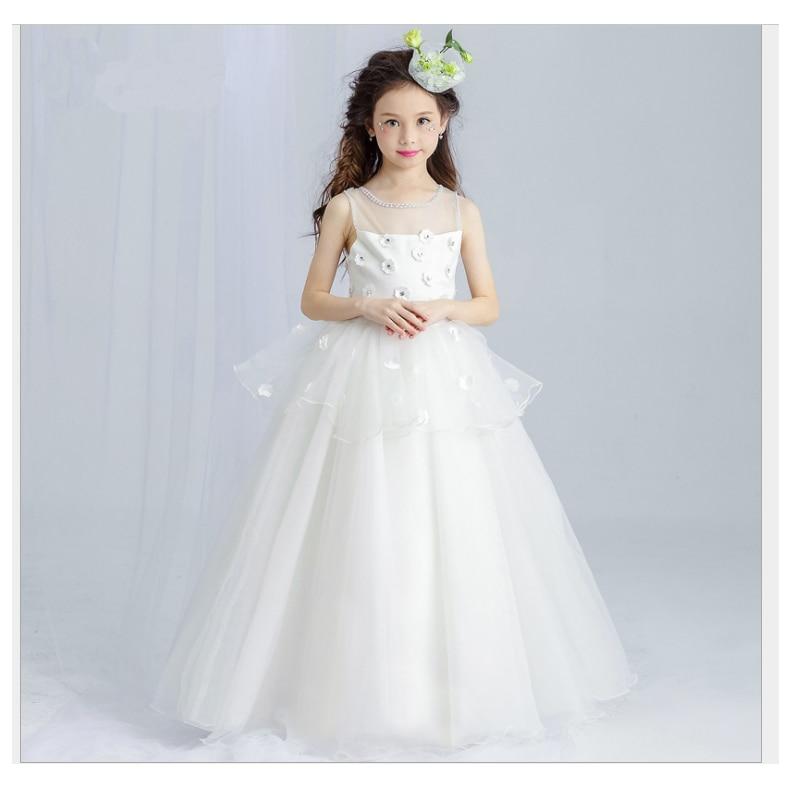 2017 summer children dress girls wedding dress flower buds poncho girls dress