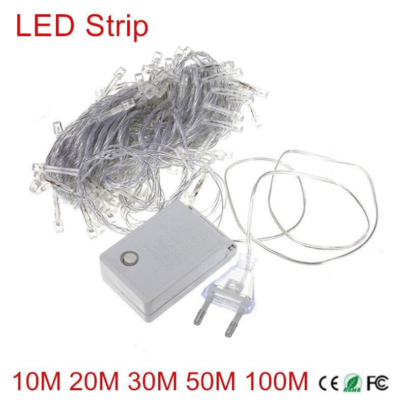 10M 20M 30M 50M 100M Waterproof LED String Light Christmas/Wedding/Party Decoration Lights Lighting AC110V/220V US Plug/EU Plug