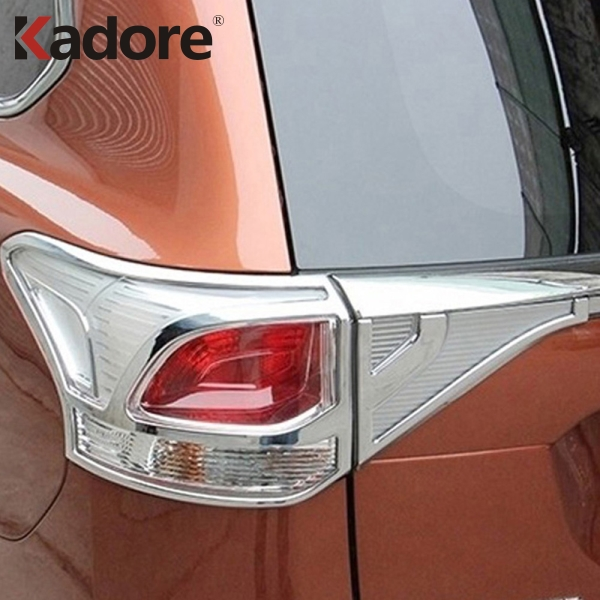 For Mitsubishi Outlander 2013 2014 2015 ABS Chrome Rear Tail Light Lamps Cover Trim Taillight Stickers