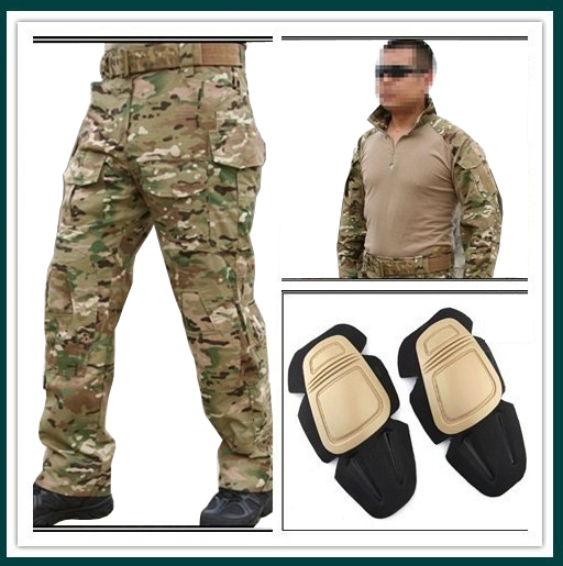 855fbc9109717 Men Army Military Equipment Airsoft Paintball BDU Clothes Combat EMERSON Gen3  Tactical Uniform Shirt Pants Knee Pads Multicam MC