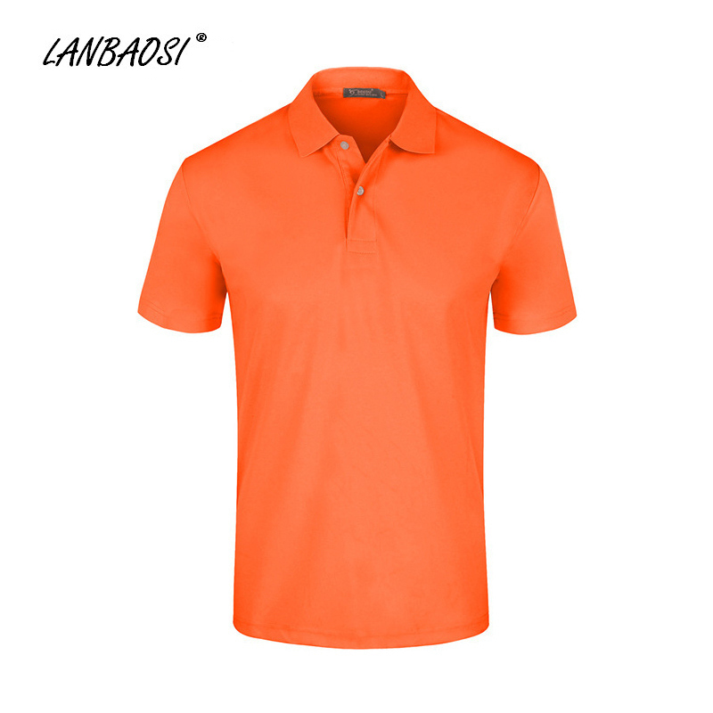 Lanbaosi sports fluorescent polo t shirts solid cool dry for Cool polo t shirts