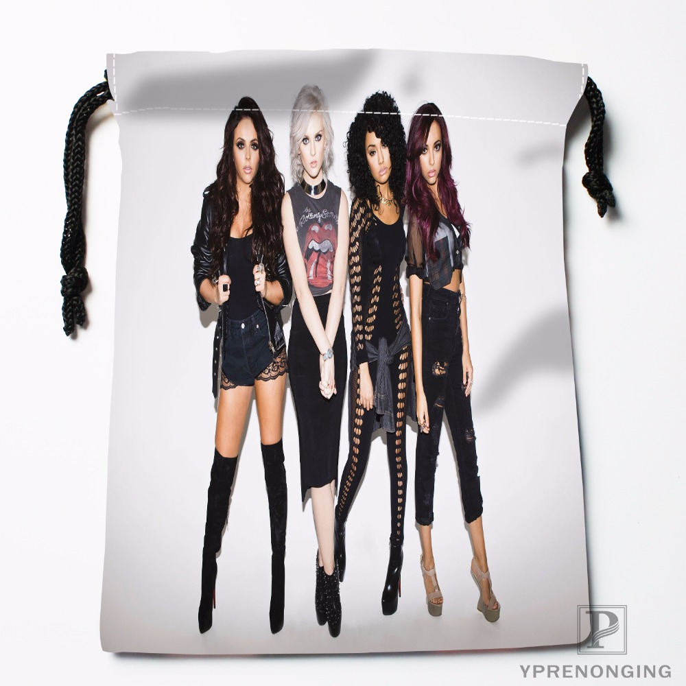 Custom Little Mix Photoshoot Drawstring Bags Printing Travel Storage Mini Pouch Swim Hiking Toy Bag Size 18x22cm#180412-11-83