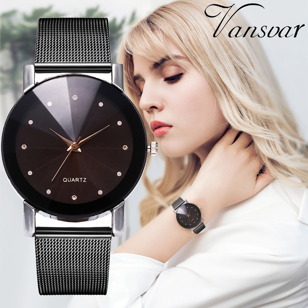 Vansvar Fashion Casual Women Watch Quartz Stainless Steel Band Newv Strap Ladies Clock Analog Wrist Watches orologio donnaVansvar Fashion Casual Women Watch Quartz Stainless Steel Band Newv Strap Ladies Clock Analog Wrist Watches orologio donna
