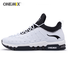 ONEMIX mens shoes off white Beti black sports air cushion shoes running sneakers fitness for male walking max big size 36-46.TN