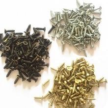 2.5X6 8 10 12MM 1000pcs Screws Silver Bronze Black Brass At Choice Mini Nail Brads Box Hinge Packing Accessories