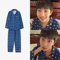 Kpop home BTS Bangtan Boys JUNG JOOK Same Harajuku style pajamas Sweatershirt nighty Man and Women's bedgown