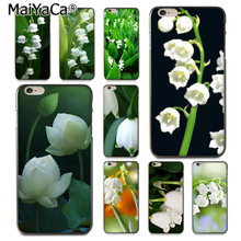 MaiYaCa White_flower Lily of the valley akcesoria do telefonów etui dla Apple iPhone 8 7 6 6S Plus X 5 5S SE 5C pokrywa(China)