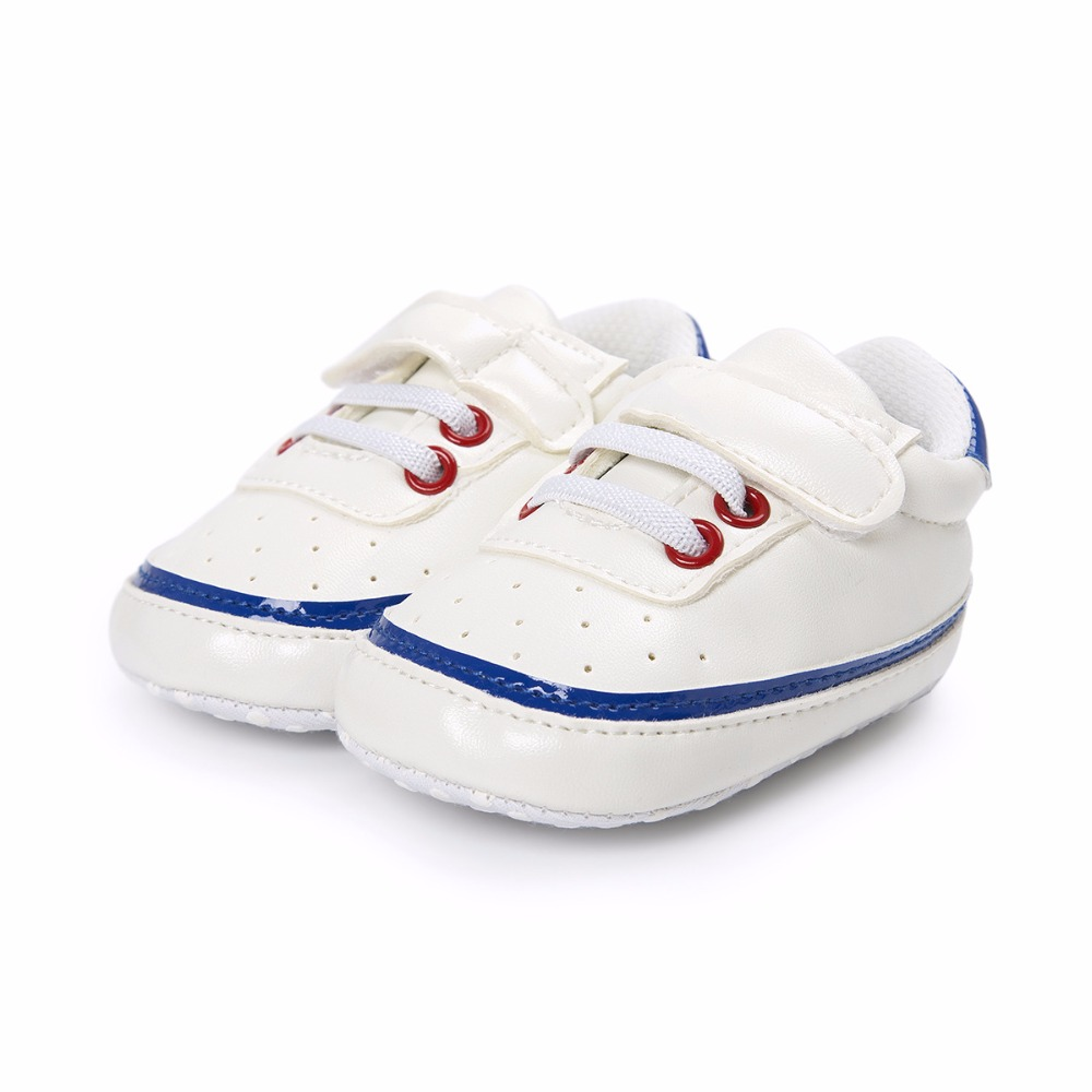 Baby Sneakers Shoes Boy Girl PU Leather Soft Sole Crib No-Slip For First Walkers Infant Toddler Newborn Kids