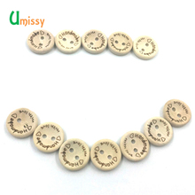 25pcs Handmade Wood Button Sewing Scrapbook DIY Decor Craft Button for Yarn 15mm(China)