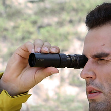 High Quality Original binoculars 10-30×25 Zoom Monocular Telescope Pocket Hunting Optical Prism Scope no tripod