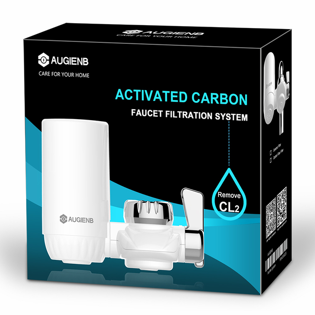 AUGIENB Kitchen Tap Faucet Water Filter Purifier  - Activated Carbon Ceramic Cartridge - Reduce chlorine, odor, Contaminants  5
