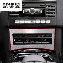 Для Mercedes Benz E class W212 внутренняя отделка кондиционер CD кнопки управления панели украшения покрытие автомобиля стиль аксессуары