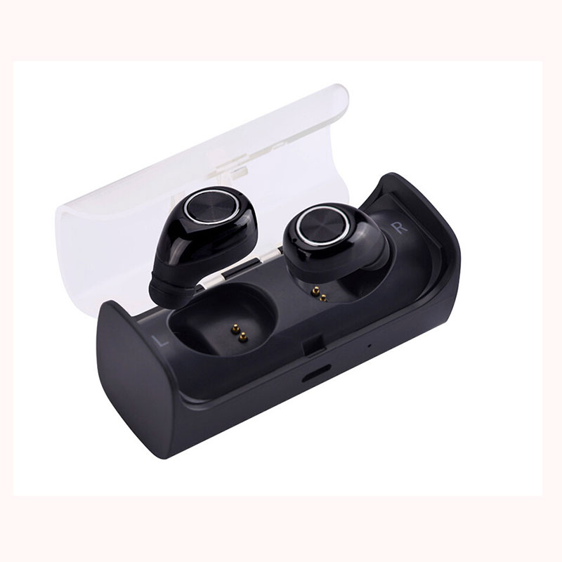 AKASO TWS10 2017 New Bluetooth Earbuds True Wireless Mini Stereo Earphone with Charging Socket play music for iphone 7