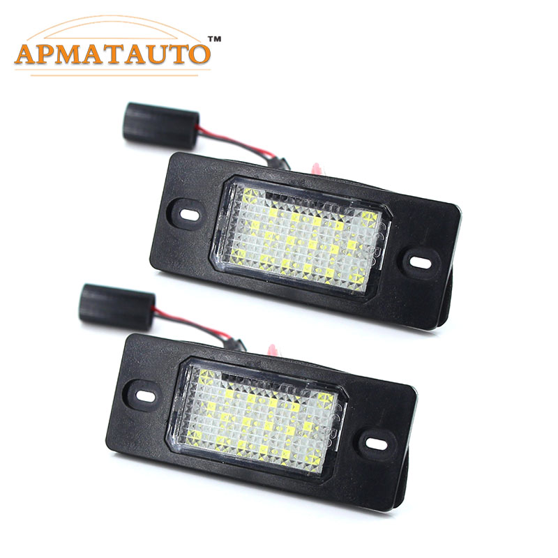 Number Plate Bulbs Pair 3030 SMD LED 501 W5W Canbus For BMW 7 Series E65 E66