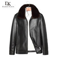 2017 New Leather Down Coats Men Dusen Klein Genuine Leather High Quality Fur Collar Sheepskin Winter