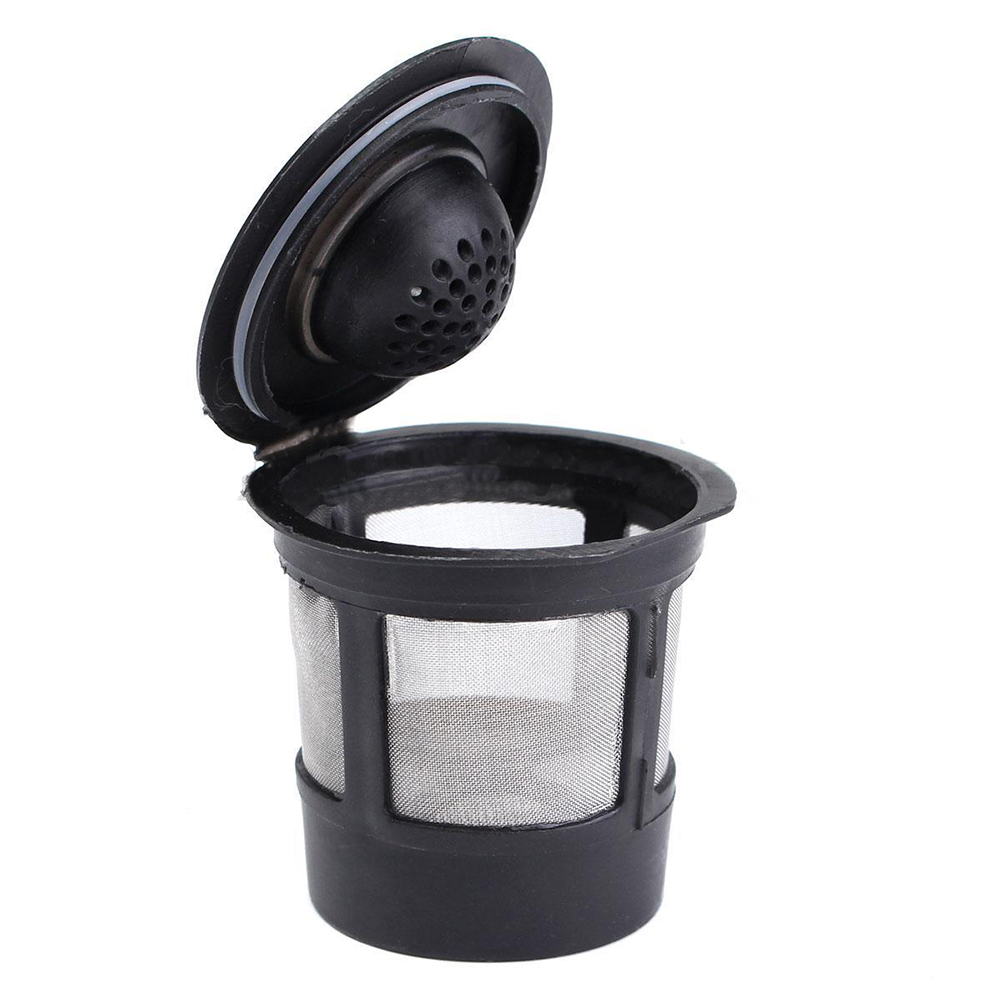 Reusable Single Cup For Keurig Solo Filter Pod KCup Coffee Stainless Mesh Black Pattern:1 Pc
