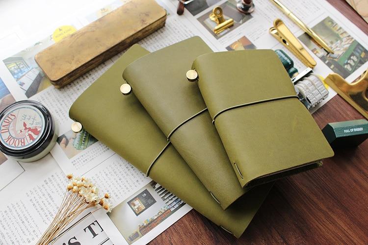 Fromthenon Travelers Notebook cuero verde oliva planificador 2019 - Blocs de notas y cuadernos - foto 5