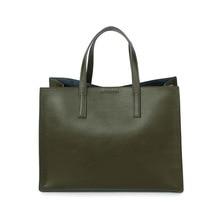 Из натуральной кожи высокой емкости женщин сплошной цвет сумки Современные стильные женские брендовые Дизайнерские Большие чистый цвет сумка