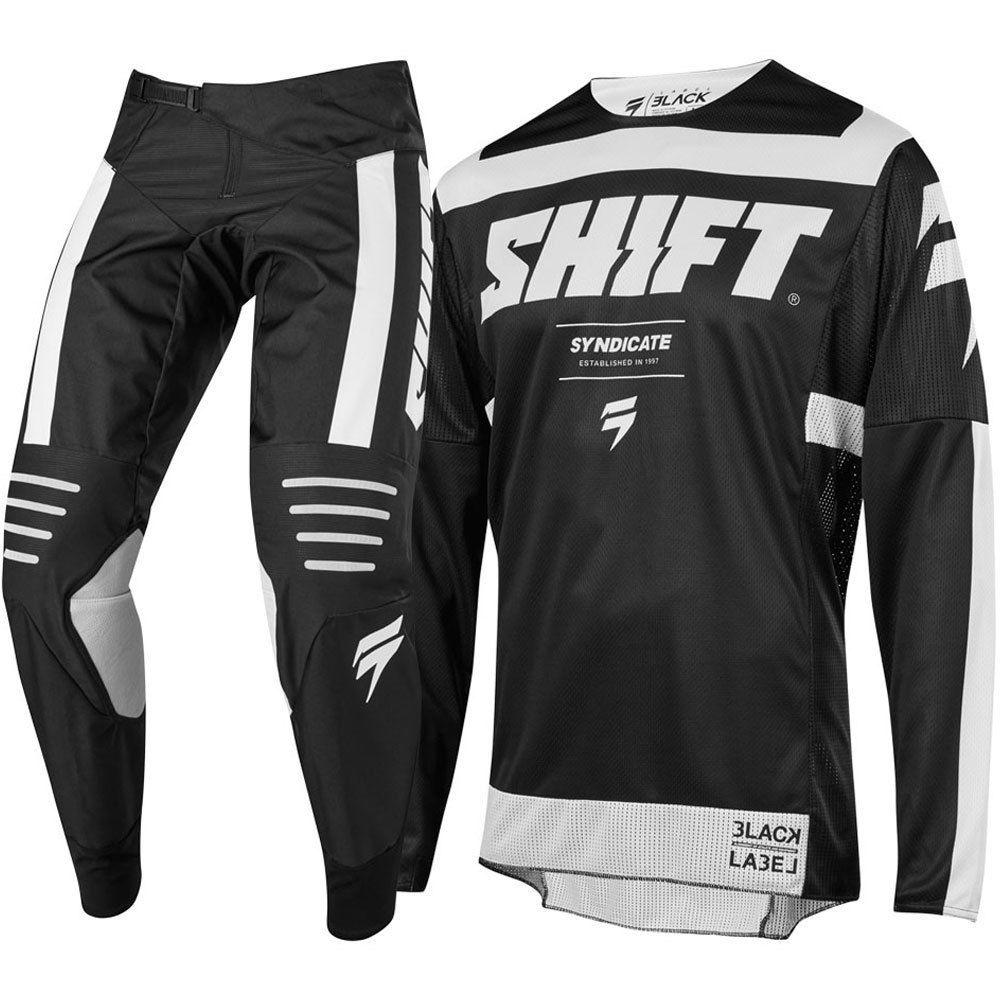 Atacado 2019 nova mx 3 falta etiqueta greve azul preto camisa calças adulto motocross conjunto de engrenagem jérsei + calças de corrida combinação engrenagem