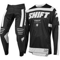 wholesale 2019 NEW MX 3LACK Label Strike Blue Black Jersey Pants Adult Motocross Gear Set Jersey + Pants Racing Gear Combination