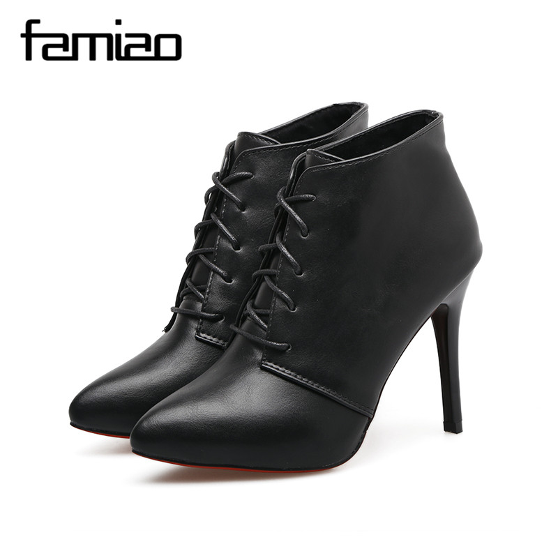 FAMIAO women pumps rome gladiator high heel zapatos mujer chaussure femme black office shoes red bottoms ladies shoes weeding famiaoo women pumps chaussure femme black gray zapatos mujer tacon high heel 2017 pointed toe thin heel ladies pumps women shoes