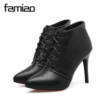 FAMIAO women pumps rome gladiator high heel zapatos mujer chaussure femme black office shoes red bottoms ladies shoes weeding(China)