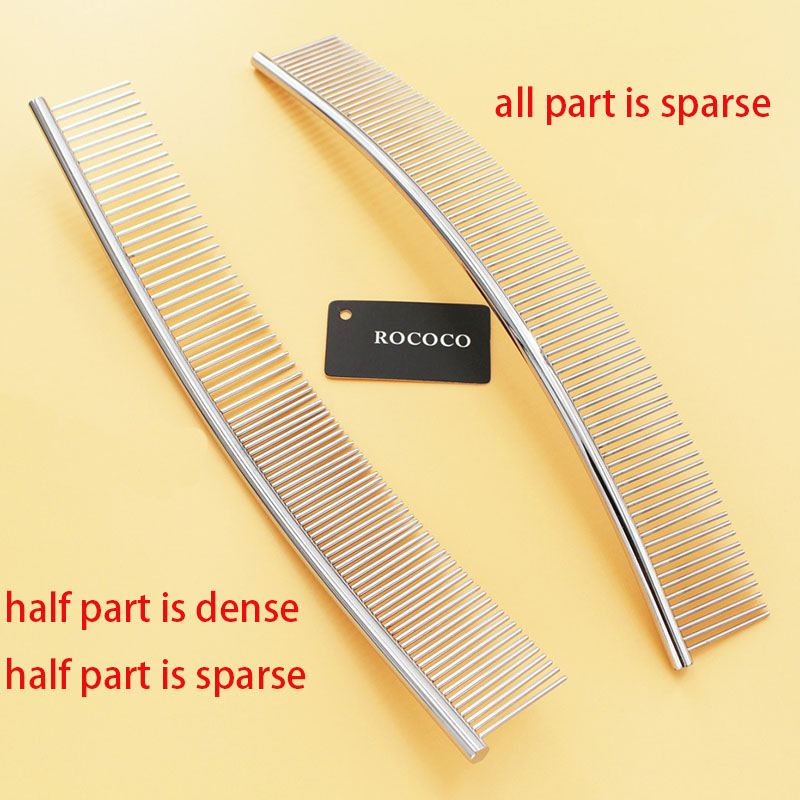 Pet Grooming Comb Curved Shape Dense Sparse Teeth Brush Professional Dog Cat Open Knot