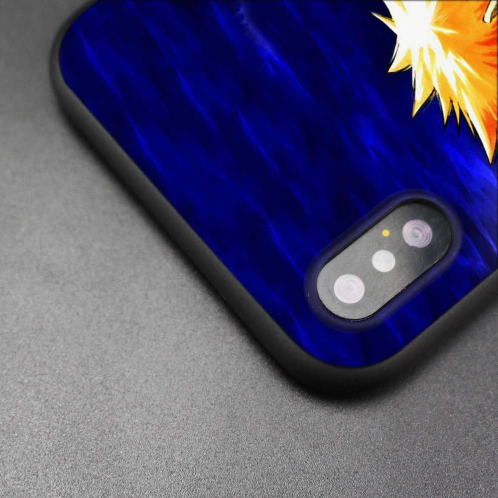 Bleach Anime Kurosaki Ichigo Zwarte Scrub Silicone Case Cover voor iPhone XS Max X XR 6 6s 7 8 plus 5 SE 5 4S iPhone 11 11Pro Max