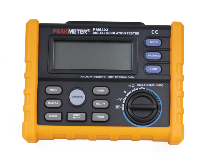 PEAKMETER PM5203 Digital Megger 1000V Digital Insulation Resistance Tester Meter