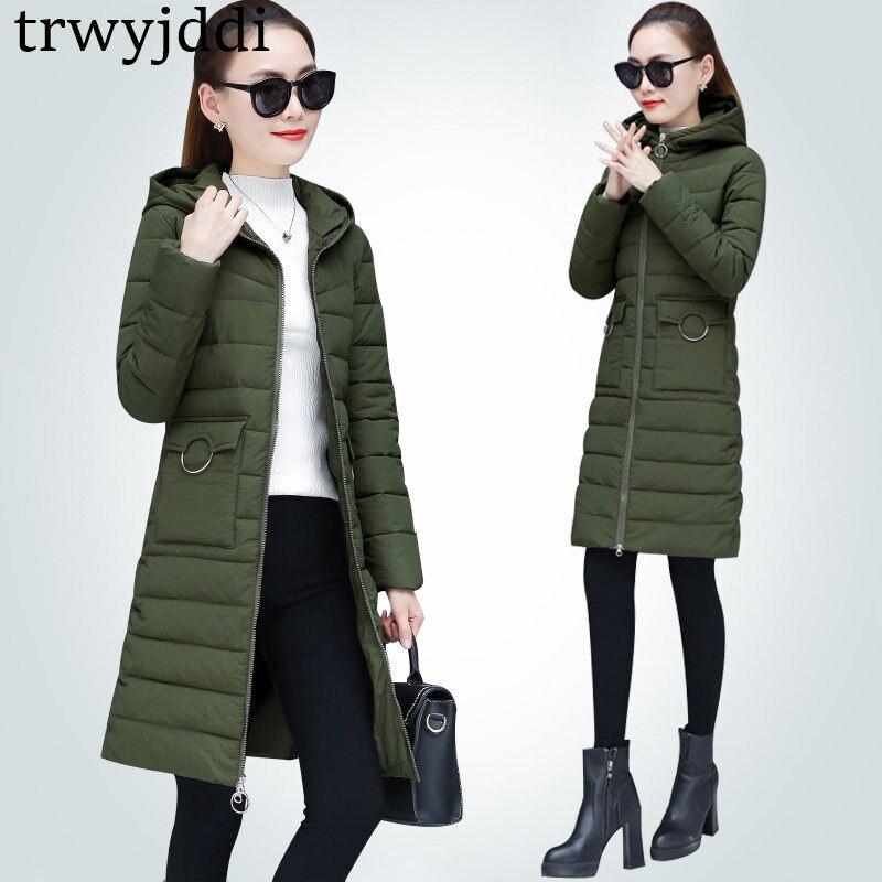 Cotton Clothing Women's Long Section Korean Winter Coats Hooded Parkas Female 2018 New Winter Jacket Women Outerwear A1697