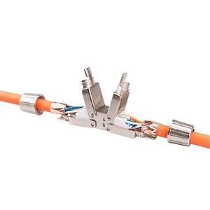 Image 1 - Linkwylan Cat6A Cat7 Kabel Extender Junction Adapter Verbindung Box RJ45 Lan Kabel Verlängerung Stecker Volle Geschirmt Toolless