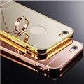 Metal Mirror Case Для iphone 5 Алюминиевый Бампер Рамка + зеркало Обложка Для iphone 5 5S SE Мобильного Телефона Case