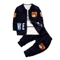 BibiCola Baby Boy Clothing Sets Kid Spring Korean Wave Point Childern Clothes Set Baby Boys Cute