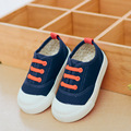 Los niños de la lona shoes 2017 nueva elastic band kids shoes jeans denim solid niños niñas zapatillas bebé toddler shoes