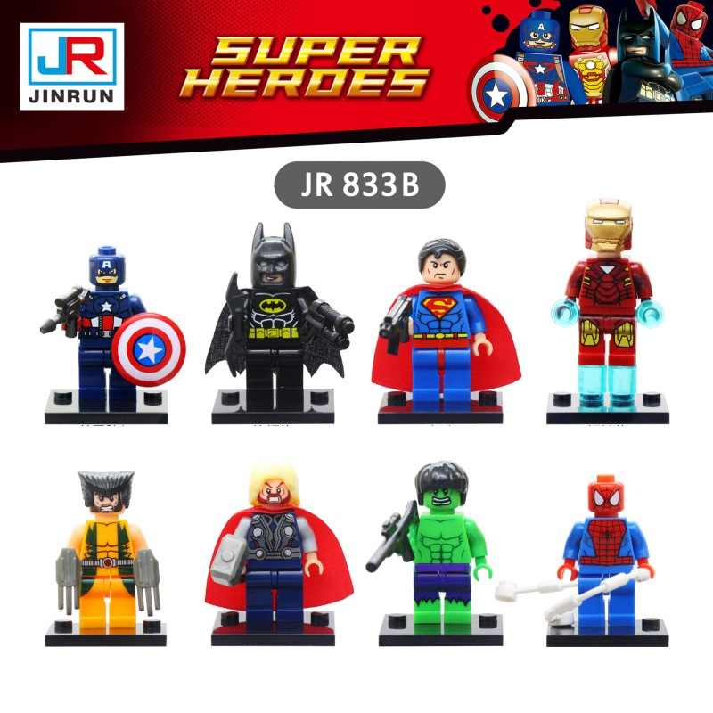 Figures Avengers Puzzle super Heroes Iron Man Model Building Kits Building Blocks Figurines Toys for Children