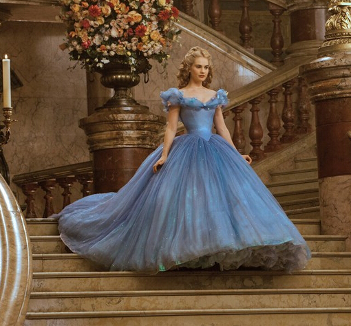 S98 New Inspired 2016 Hot Sale Cap Sleeve Blue Cinderella Prom