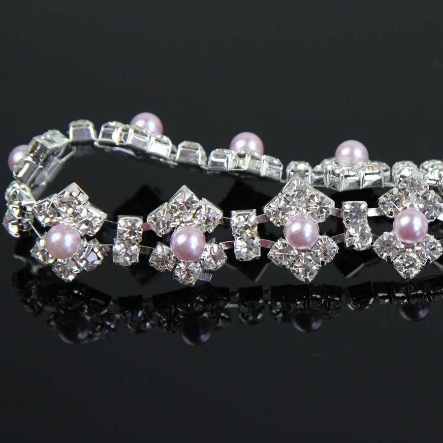 100Yards Rhinestone Chain Beaded Sew On Pearls Applique Trim Wedding Bridal Dress Embellishment