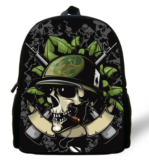 12 Inch Mini Bags Kids Backpack Skull Baby Boy School Bag Mochila Infantil Menino Age