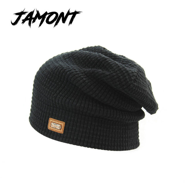 5a4a00885c6  JAMONT  Fashion Brand Autumn Beanies Winter Hat For Men Gorros Unisex  Knitted Wool Hat Men Skullies Warm Head Cap Touca Inverno